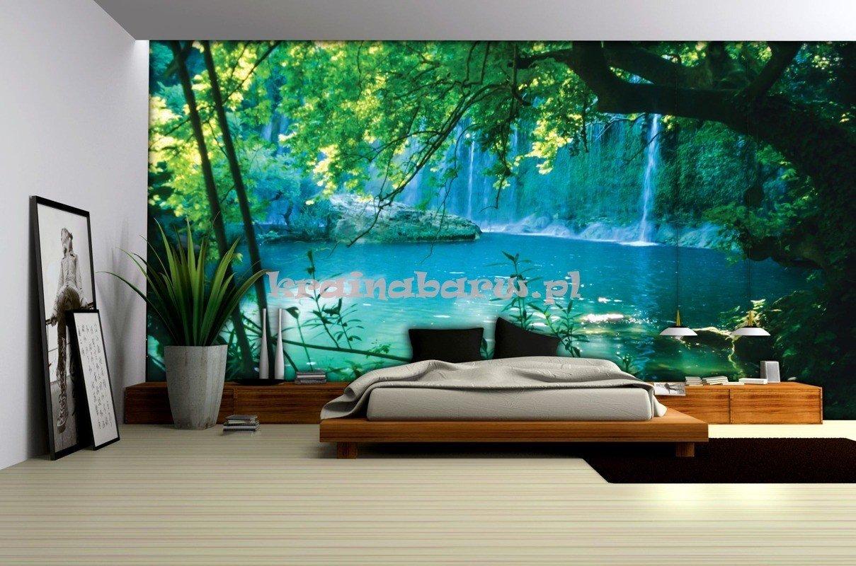 fototapeta na flizelinie 1783ve jezioro z wodospadem. Black Bedroom Furniture Sets. Home Design Ideas