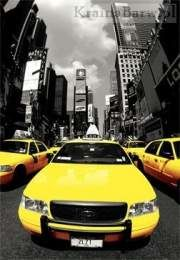 Plakat 3D Yellow Taxi (PPL70074)
