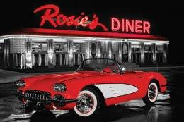 Plakat  PP32636 Rosie's Diner - Red Car