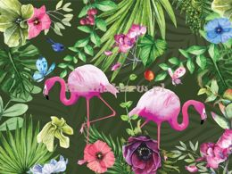 Tropical Explosion tapeta z flamingami