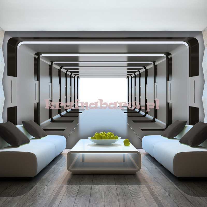 fototapeta 2798 tunel 3d. Black Bedroom Furniture Sets. Home Design Ideas