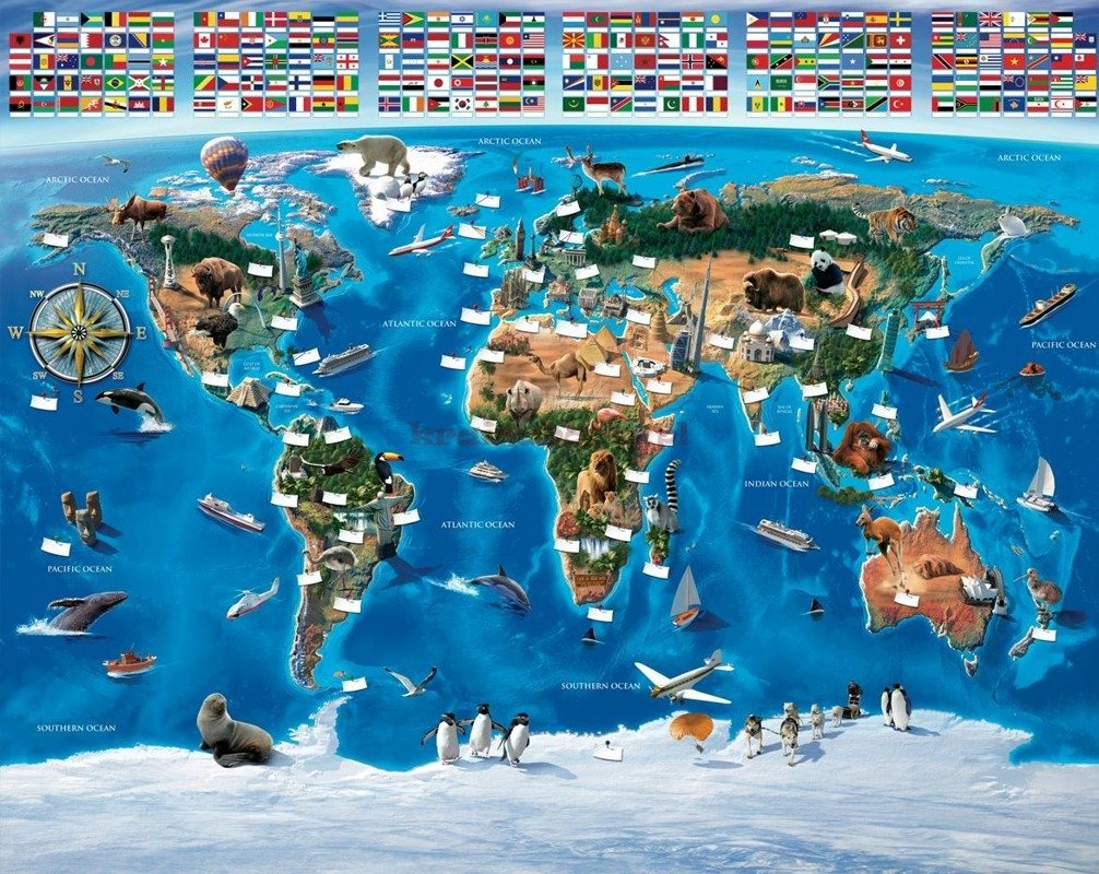 fototapeta 3d 047 map of the world. Black Bedroom Furniture Sets. Home Design Ideas
