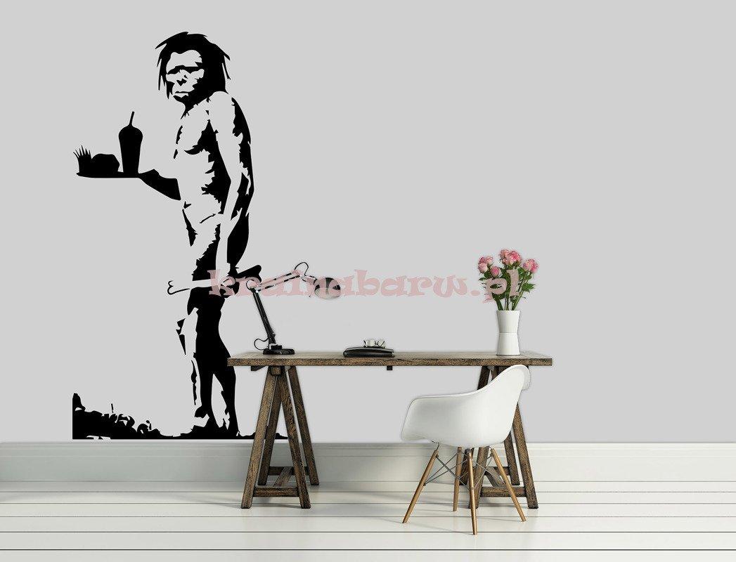 Naklejka Na Sciane Jaskiniowiec Banksy Spnb193ts