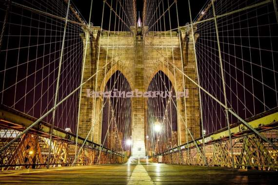 Fototapeta  796P8 Brooklyn Bridge nocą